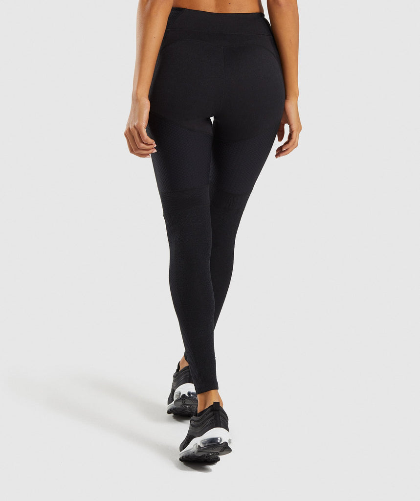 Gymshark True Texture Leggings - Black 2