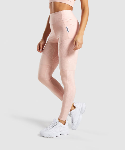 Gymshark True Texture Leggings - Blush Nude 2