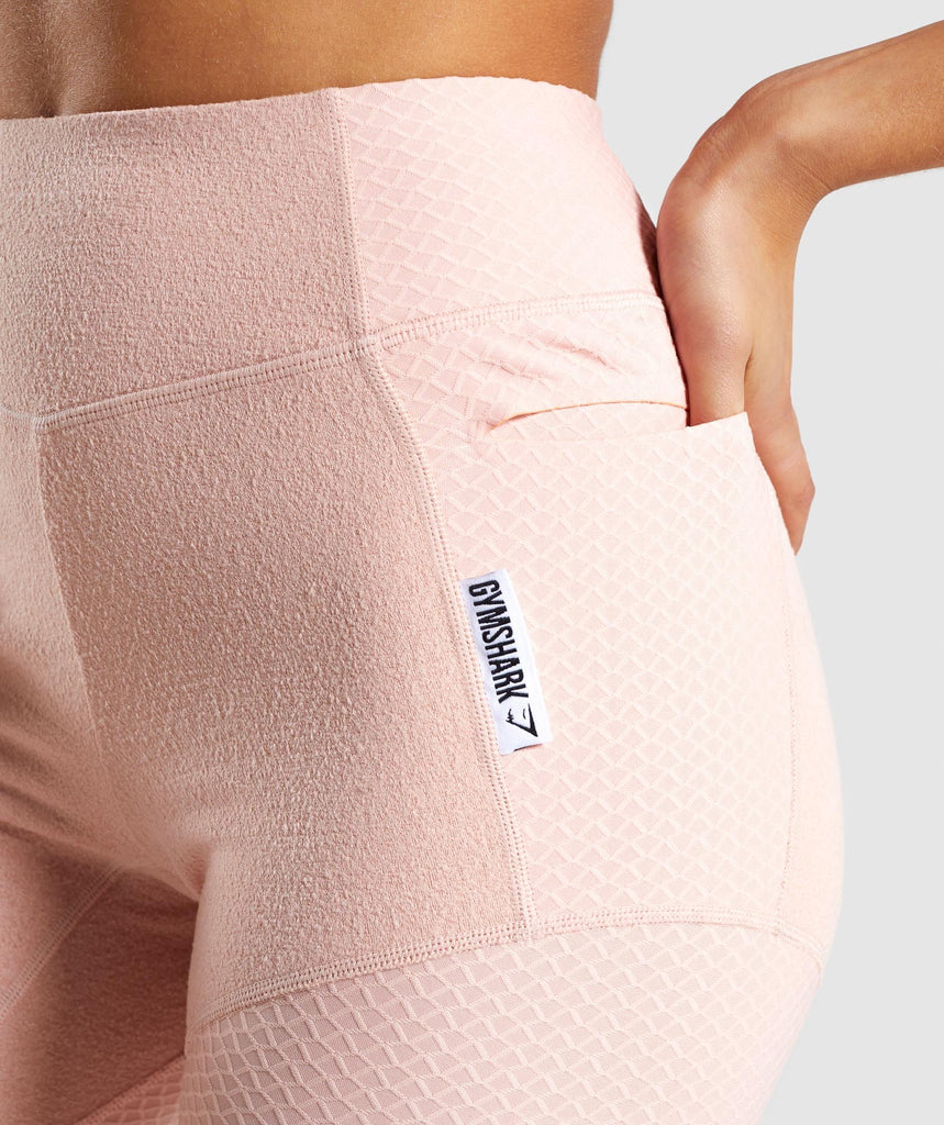 Gymshark True Texture Leggings - Blush Nude 6