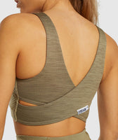 Gymshark True Texture Sports Bra - Washed Khaki 11