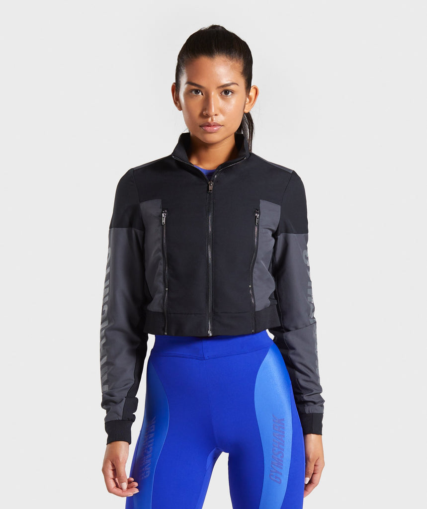 Gymshark Turbo Track Jacket - Black 1