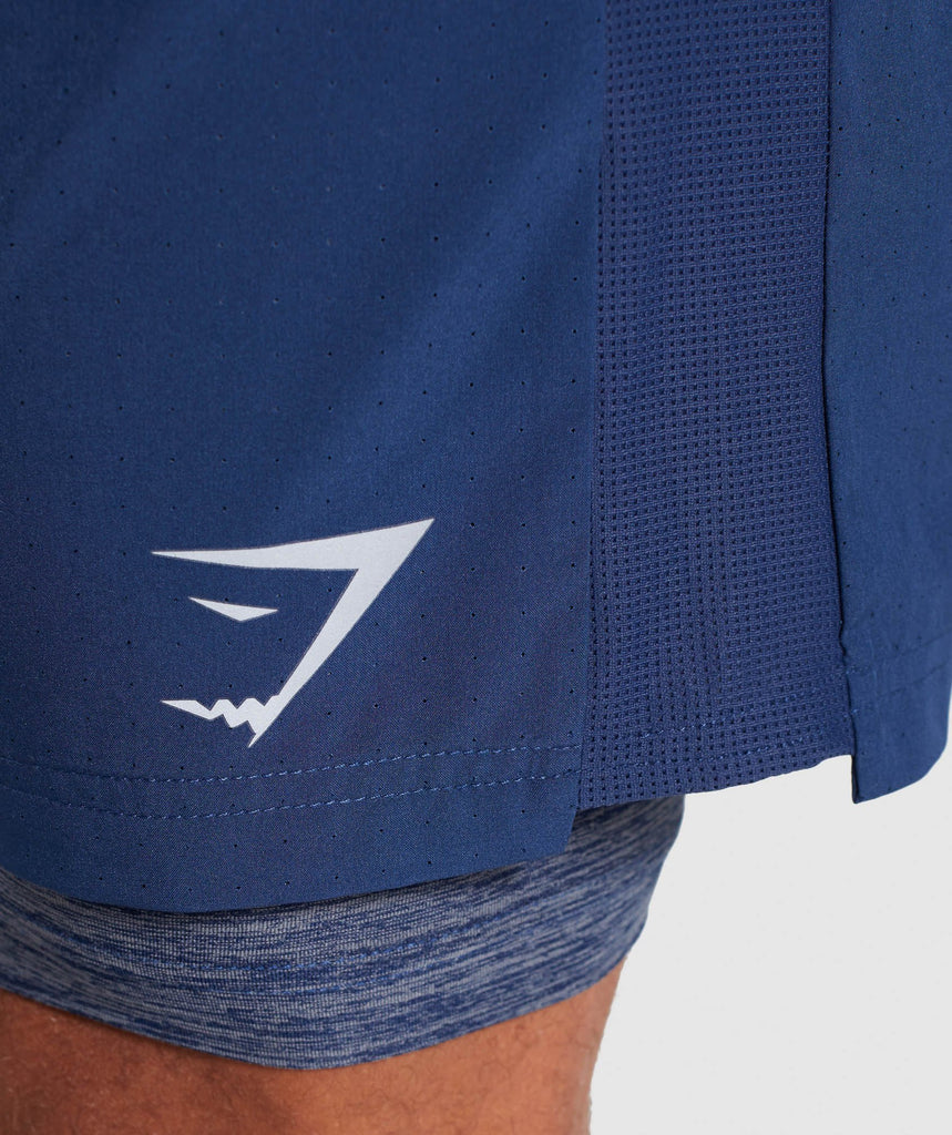 Gymshark 2 In 1 Training Shorts - Sapphire Blue 6