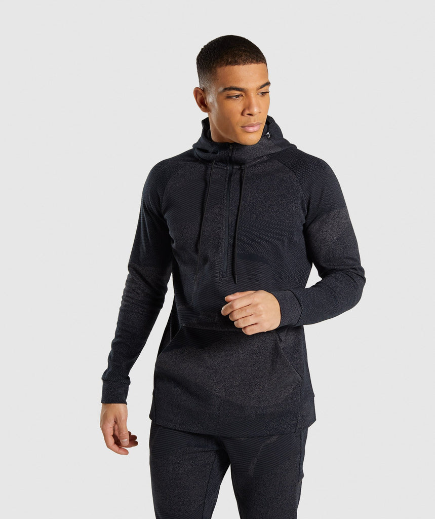 Gymshark Ultra Jacquard Pullover - Charcoal 1