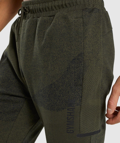 Gymshark Ultra Jacquard Joggers - Woodland Green 4