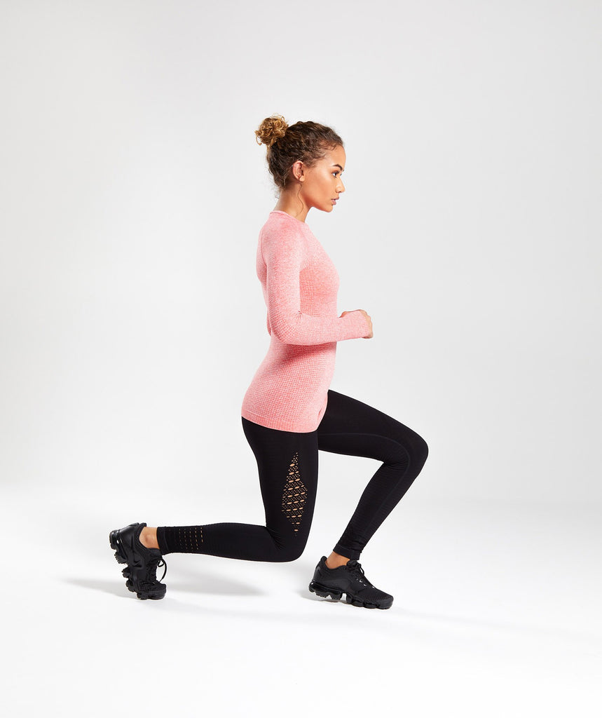Gymshark Seamless Long Sleeve Top - Peach Coral 5