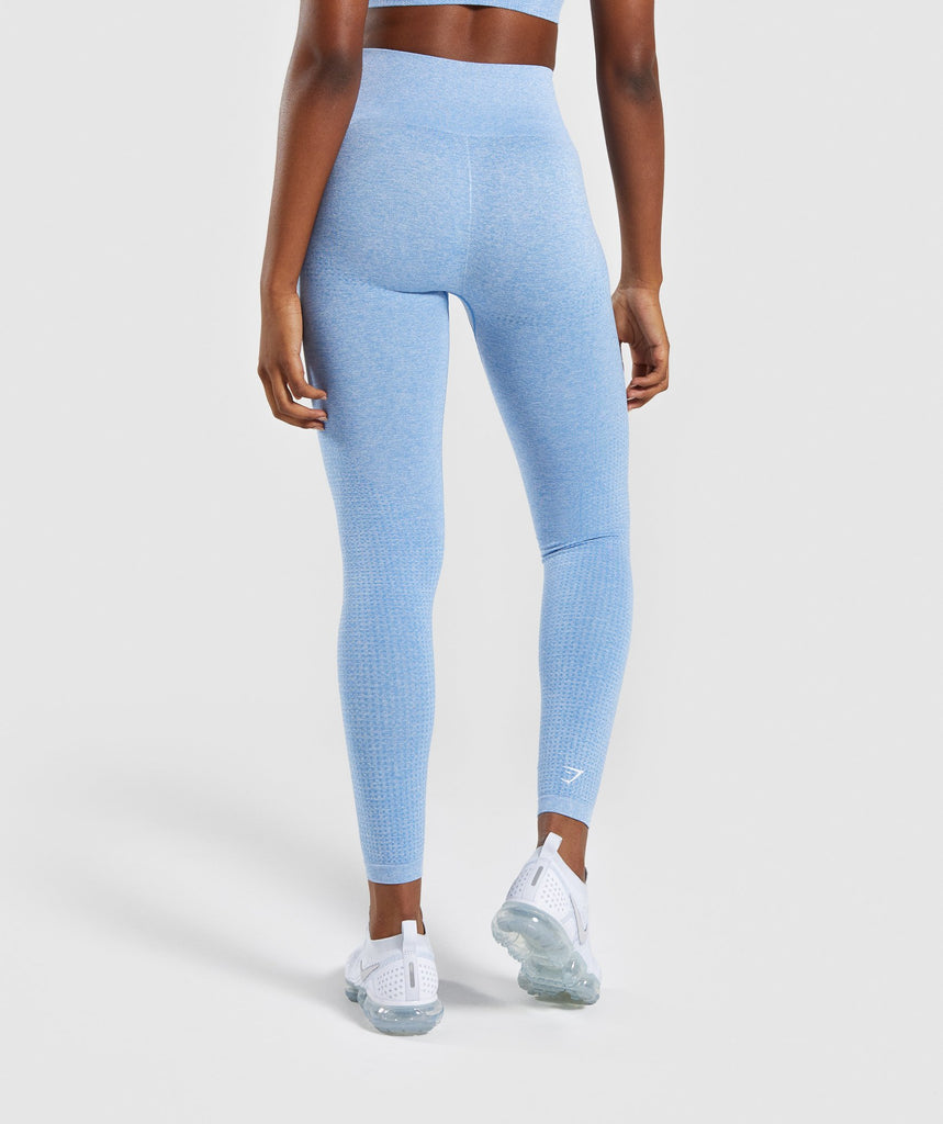 Gymshark Vital Seamless Leggings - Blue 2