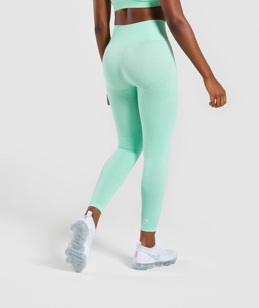 Gymshark Vital Seamless Leggings - Green 2