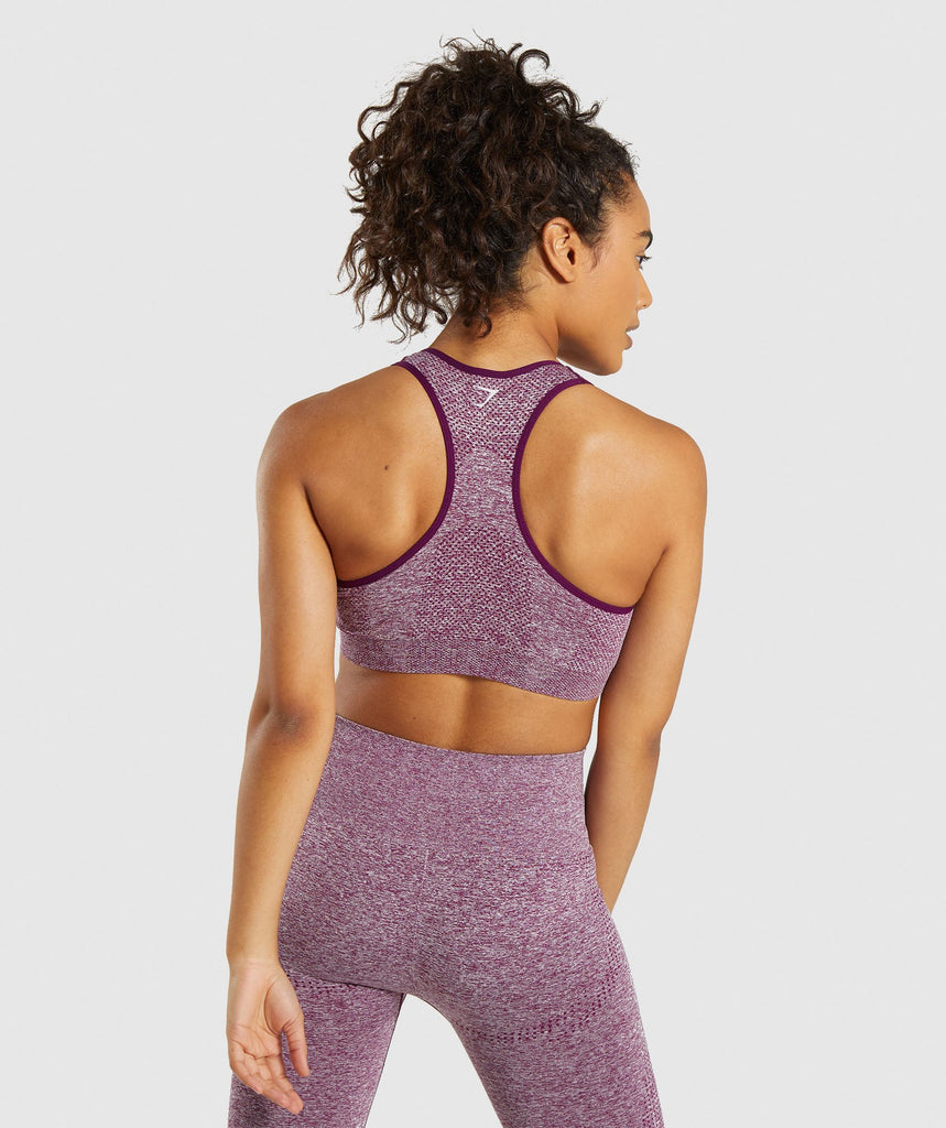 Gymshark Vital Seamless Sports Bra - Purple 2