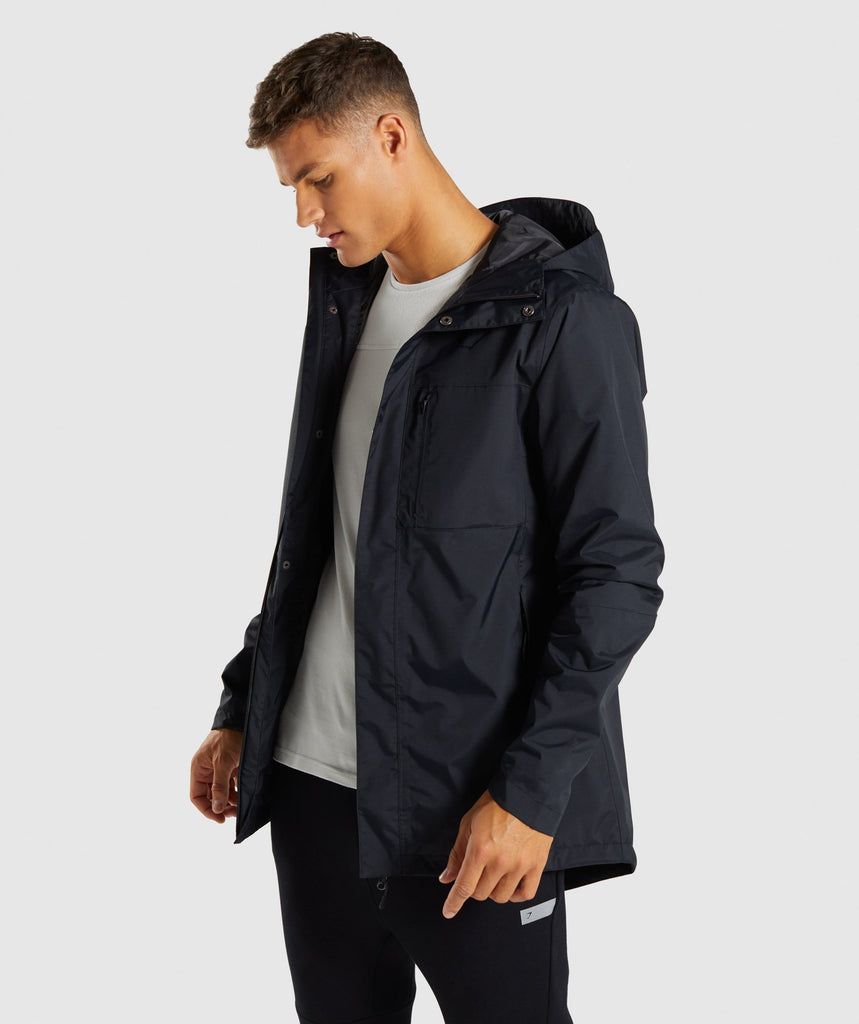Gymshark Vortex Waterproof Jacket - Black 4