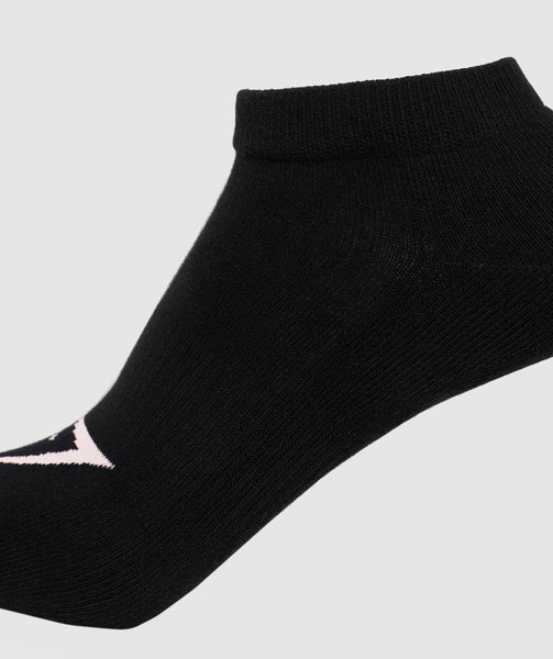 Gymshark Womens Ladies Trainer Socks (3pk) - Black 2