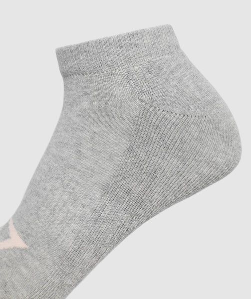 Gymshark Womens Ladies Trainer Socks (3pk) -Grey 2