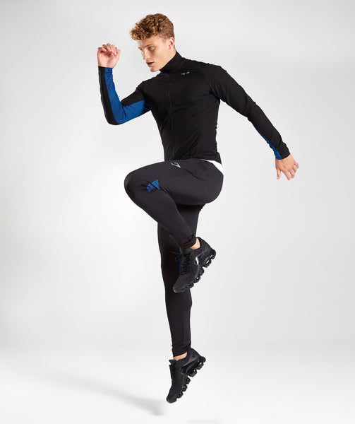 Gymshark Gravity Bottoms - Black/Dive Blue 2