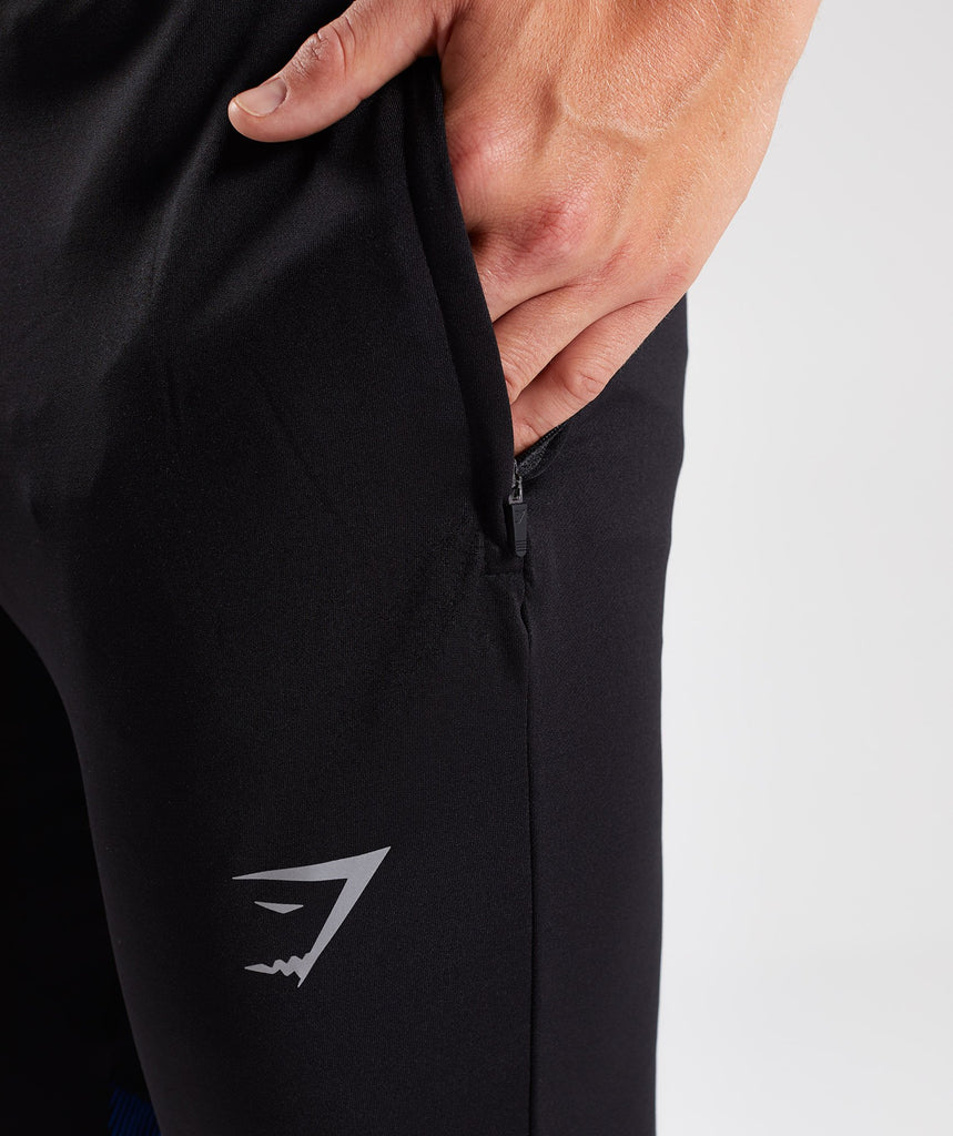Gymshark Gravity Bottoms - Black/Dive Blue 5