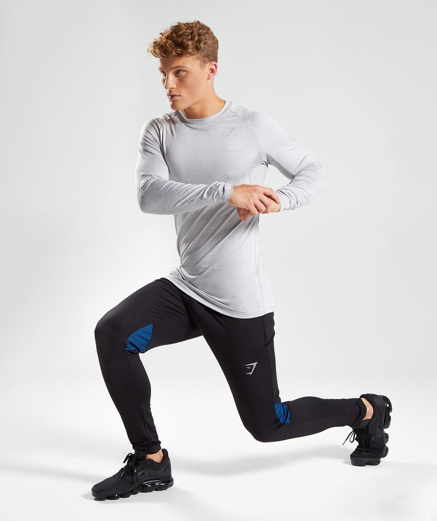 Gymshark Gravity Bottoms - Black/Dive Blue 6