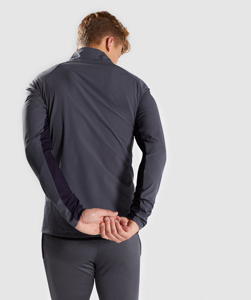 Gymshark Gravity Track Top - Charcoal/Nightshade Purple 1