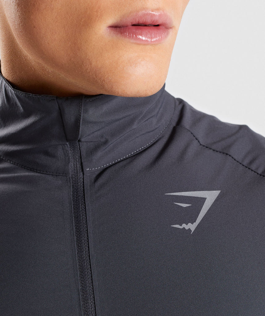 Gymshark Gravity Track Top - Charcoal/Nightshade Purple 5