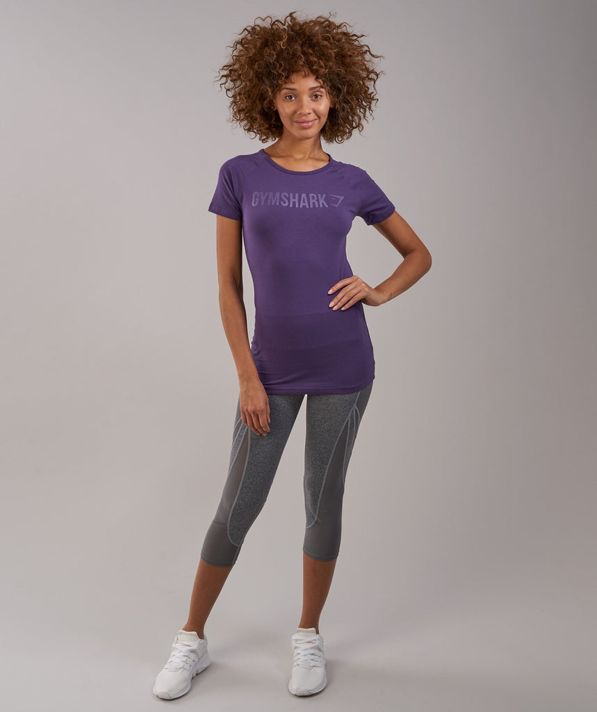 Gymshark Women's Apollo T-Shirt - Rich Purple 1