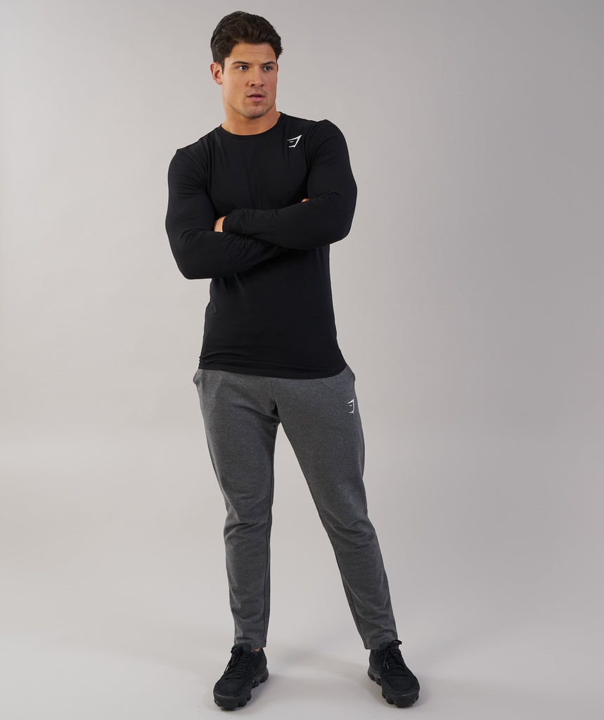 Gymshark Ark Long Sleeve T-Shirt - Black 1