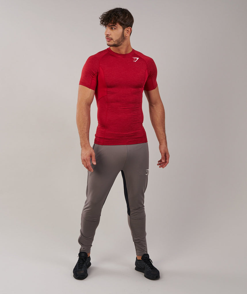 Gymshark Element Baselayer Short Sleeve Top - Deep Red 1