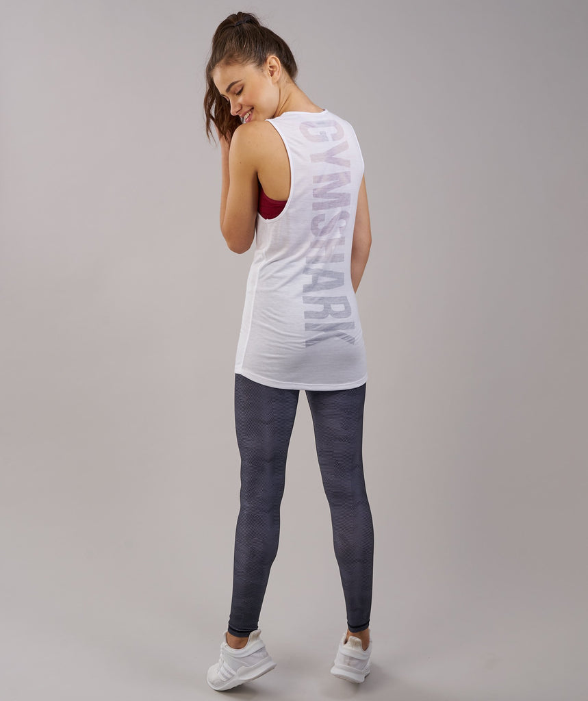 Gymshark Burnout Vest - White 2