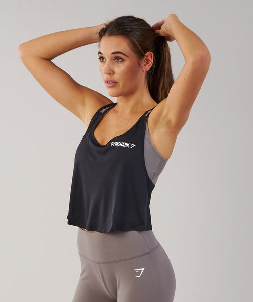 Gymshark Cropped Tech Vest - Black 3