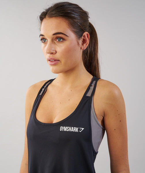 Gymshark Cropped Tech Vest - Black 4