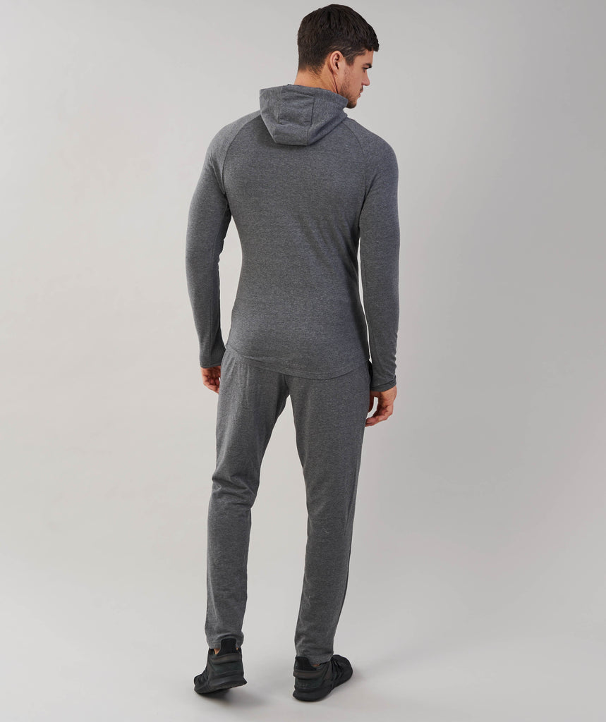 Gymshark Fit Hooded Top - Charcoal Marl 2