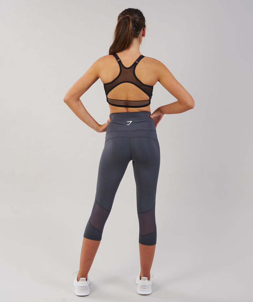Gymshark Fusion Cropped Leggings - Charcoal 2