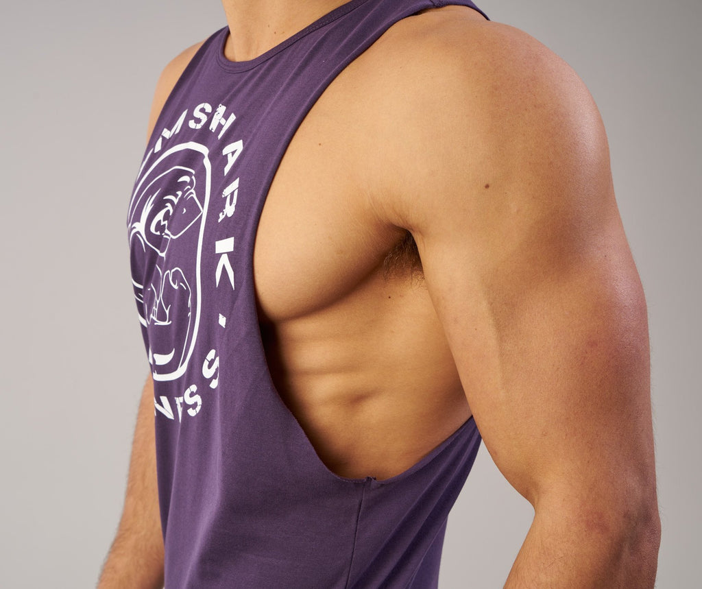 Gymshark Fitness Drop Armhole Tank - Nightshade Purple 6