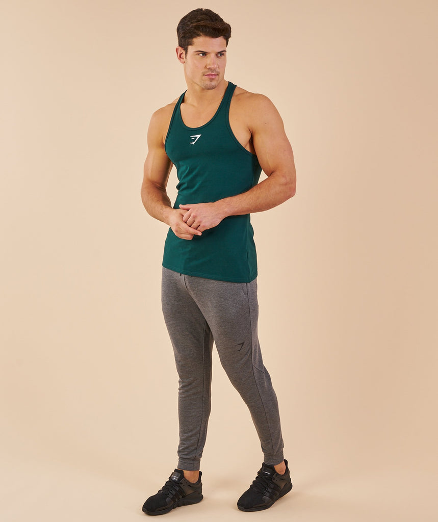 Gymshark Ion Stringer - Forest Green 1