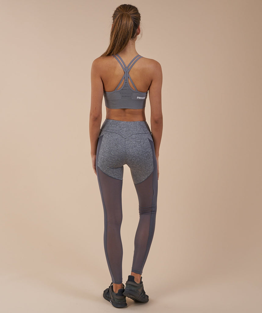 Gymshark Simply Mesh Leggings - Charcoal Marl 2