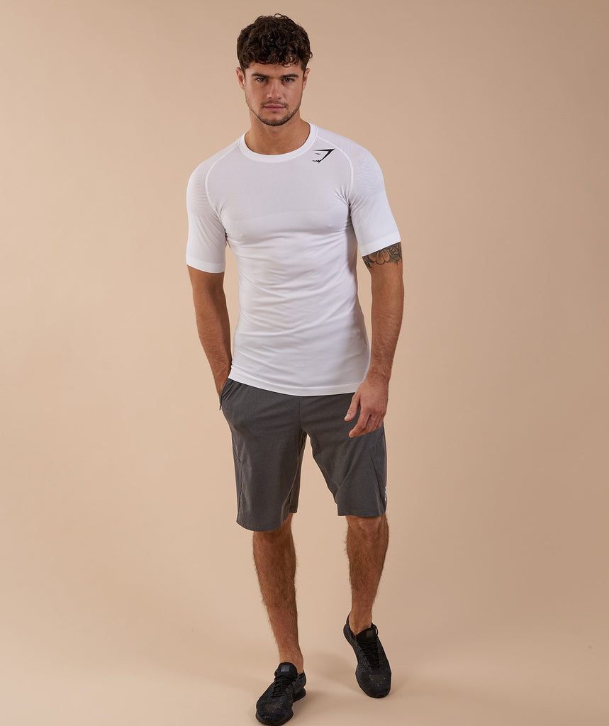 Gymshark Phantom Seamless T-Shirt - White Marl 1