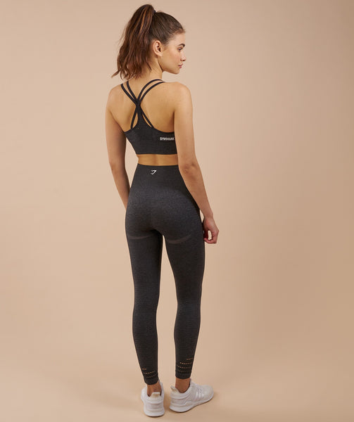 Gymshark High Waisted Seamless Leggings - Black Marl 1