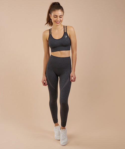 Gymshark High Waisted Seamless Leggings - Black Marl 4