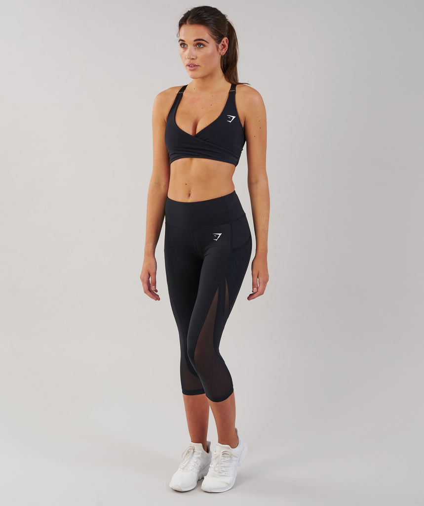 Gymshark Sleek Sculpture Cropped Leggings - Black 1