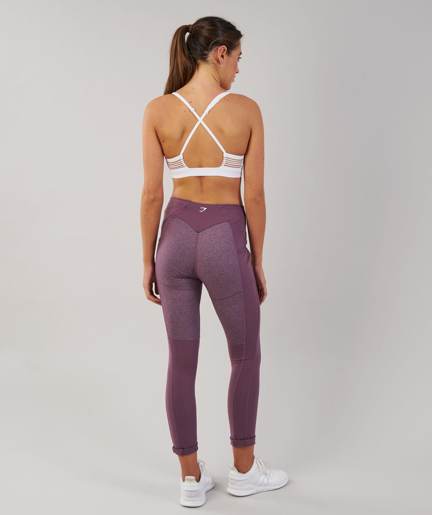 Gymshark Textured Leggings - Purple Wash 2