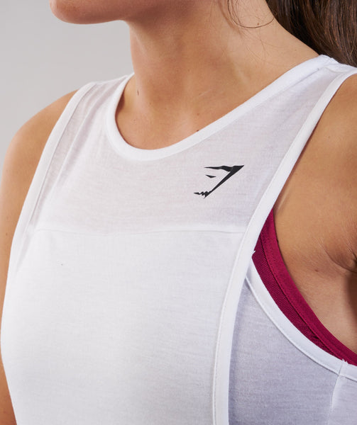 Gymshark Two in One Tank - White 1