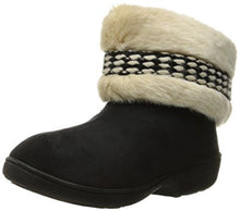 Isotoner Ladies Boot Slipper Black or Henna - 6 piece prepack by color
