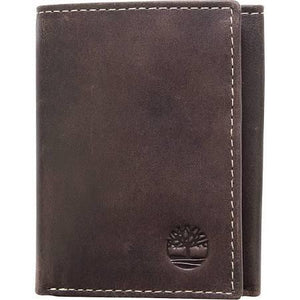 Timberland Men's Leather Wallet Double Billfold Tri-fold - Brown -  24 Piece Prepack