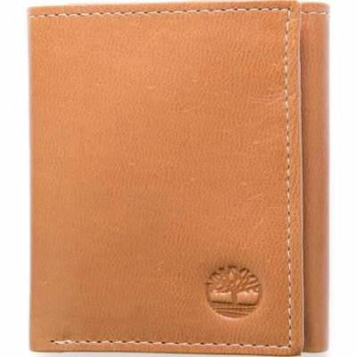 Timberland Men's Leather Wallet Double Billfold Trifold - Tan - 24 Piece Prepack