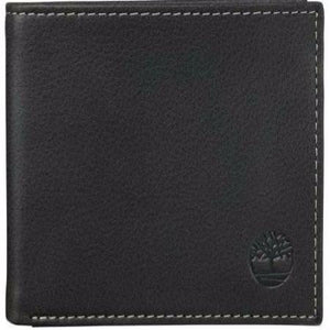 Timberland Bi-fold Leather Wallet With ID Flap Inside Black - 24 Piece Prepack