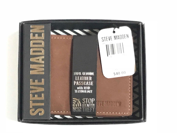 Steve Madden Men's Passcase Wallet with RFID Technology - 24 Piece Minimum Order (*NEW*)