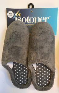 Isotoner Micro-Terry Solid Clog with Polka Dot Lining - 12 Piece Pre-Pack Minimum Order