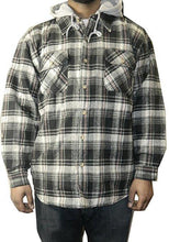 Moose Creek Men's Plaid Button Down Shirt Jacket with Hood - 12 Piece Prepack