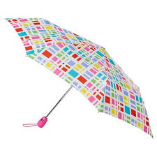 TOTES Satin print Auto Umbrellas Assorted Prints - 48 Piece Prepack