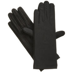 Isotoner Ladies Stretch Fleece Lined Glove Black - 24 Piece Prepack