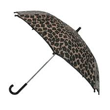 TOTES Wooden Handle Satin Assorted Print Auto Umbrellas - 36 Piece Prepack