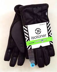 Isotoner Men's Smart Touch Gloves Black - 24 Piece Prepack