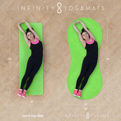Infinity Yoga Mats are larger than traditional mats