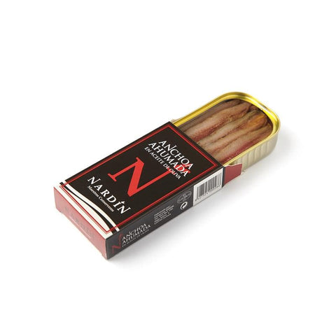 Smoked Anchovy fillets from Cantabrian Sea in olive oil 100g